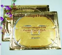 facial mask - 50pcs Gold Bio Collagen Facial Mask Face Mask Crystal Gold Powder Collagen Facial Mask Moisturizing Anti aging