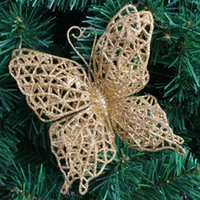 artificial christmas wreath - g DIY Christmas Bow XMAS Tree Garland Wreath Decoration Ornaments Artificial Butterfly