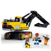 big digging machine - 614 big size building block digging machine toy good quality self locking bricks best gift for kids