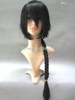 beijing family - Hot sale black color Ranma male Ranma V home Beijing pronunciation dragon family teacher wind cosplay wig with braid