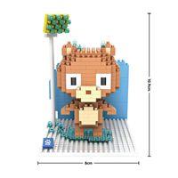 bath cubes - LOZ cm box Mini Qute Kawaii LOZ bath shower bear cartoon diamond nano block plastic cube building block toy NO