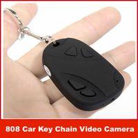 Wholesale Mini Hidden Car Key Digital Camera HD P Keychain Chain DV DVR DC Camcorder Video Recorder Support TF Card