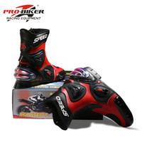 Wholesale Motorcycle off road boots pro biker motorcycle boots automobile race boots short design automobile race shoes bota motocross