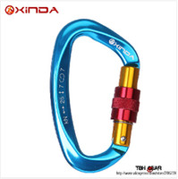 Wholesale High quality XINDA KN Professional Safety Master Lock D Buckle Climbing Lock Carabiner Rock Climbing Buckle Equipment