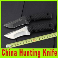 Wholesale 201412 China hunting knife D2 steel G10 handle outdoor survival hiking knife with K sheath Hunting Fighting Knives X