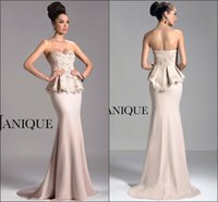 Cheap New Arrival 2015 Sheath Evening Dresses Janique Sweetheart Embroidery Pink Lace Chiffon Custom Peplum Prom Dresses Gowns Ball Formal Dresses