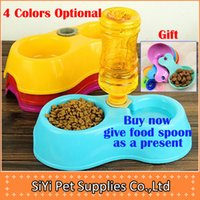 Cheap Wholesale-feeder for cats automatic pet feeder double bowl Dog Feeding & Watering Supplies eco-friendly slip-resistant cat water dispenser