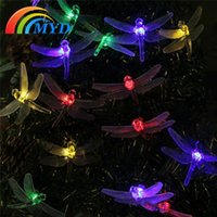 animal stake - 20 LED Dragonfly Solar Power Stake Multi Color String Lights Lamp Waterproof for Outdoor Tree Wedding Xmas Multi Color
