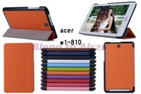 acer tablet - For Acer Iconia Tab W1 W1 tablet Case Ultra Slim Tri Folding Folio Smart Cover Fashion Custer Leather Ultrathin Flip Stand Pouch