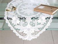 Wholesale Handmade Embroidery white Cotton home textile Venice Lace Crochet Doilies Mats Round Doily Disc Mat x30 quot W OV