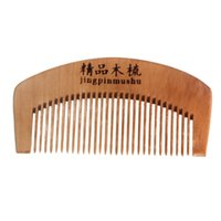 Wholesale Stylish Hot women Pro Natural Health Peach Wooden Mahogany Comb Present Massage Comb Hair styling tools