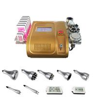 Wholesale 8 in ultrasonic cavitation vacuum RF lipo laser body shaper slimming machine off hot sale