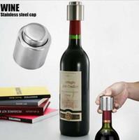 wine cork - New Vacuum Sealed Wine Stopper Stainless Steel Wine Plug Wine Storage Bottle Cork