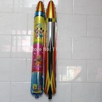Cheap 10pcs lot 105*18cm Good quality Cartoon balloon, rocket model inflatable helium balloons, toy balloons
