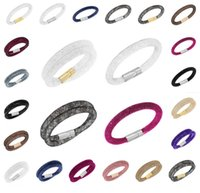 Wholesale stardust double bracelets mesh chain with full resin crystal inside magnetic wrap charm bracelets for women