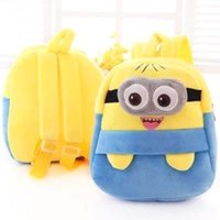 adorable animal kid - 2015 Hot Adorable Despicable Me Children School Bag Kids Backpack Children Plush Minions Toy Boy Gir Carton Shoulder School Bags MYF189