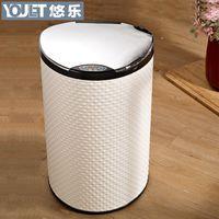Wholesale Germany YOULET intelligent electric induction stylish living room kitchen bathroom trash upscale leather storage