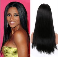 Wholesale 7A grade full lace front lace human hair wigs brazilian virgin hair straight natural color density with natural hairline
