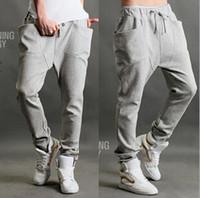Wholesale New Casual Men Athletic Hip Hop Dance Sporty Harem Sport Sweat Pants Slacks Trousers Sweatpants color