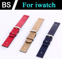 Wholesale Hot sale WatchBand For Apple Watch Strap Genuine Leather Wrist Band Strap For iWatch mm mm optional DHL