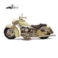 Wholesale 2015 New Fashion Vintage Handmade Craft White Metal Harley Davidson Motorcycle Mold Metal Home Decoration Art a