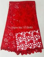 lace material - 100 polyester materials african cord laces swiss guipure lace fabric for nigerian wedding dresses AMYc034 B