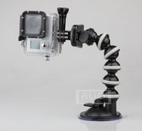 Wholesale Flexible Gooseneck Car Sucker Mount Holder Gopro Hero HD SupTig SJ4000 SJ5000 SJ6000 Mini Camcorder Camera Accessories