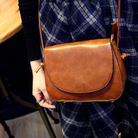 Wholesale Blanks Vintage PU Faux Leather Women Shoulder Bag Cross Body Bags in Colors with DOM103228