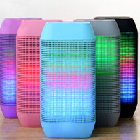 Wholesale 2015 New Wireless Bluetooth Mini Pulse Speaker MY530BT subwoofer HIFI Speaker With Colorful LED Light Support USB TF Card Hadfree