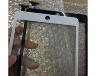 Wholesale 100 New Touch glass for Apple iPad Mini outer glass Touch Screen Digitizer Glass with M adhesive tope ticker