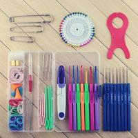 crochet hooks - 2015 Hot Crochet hook knitting needle set crafts cross stitch needlework weaving tools sewing needles