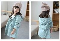 band zip hoodies - 2015 Autumn Hot Fashion Children Tench Coat Letter Printed Back Elastic Band Outwear For Kid Zip Cardigan Hoodie Clothhing For Girl CR87