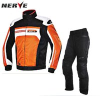 Wholesale Germany NERVE Superstar X66 Cycling Jersey Set Motorcycle racing suits Warm waterproof drop resistance Cruising Rally clothes Blanca pants
