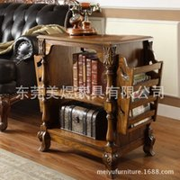 american country magazine - Mei yu American country magazine rack solid carved European newspapers pastoral newspaper rack custom furniture