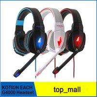KOTION CHAQUE Headset USB Gaming G4000 Jeu casque Professional Surround Sound avec micro à distance pour PC portable 002994