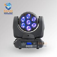 achat en gros de rgbw conduit faisceau mobile de la tête-Gros-Nouvelle 7 * 12W RGBW RGBW Cris 4in1 LED Moving Head faisceau, Super Sharpy faisceau lumineux à affichage LCD, Powercon, 110-240V