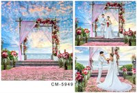 Wholesale 5X7ft New Camera Photos Blossoms For Wedding Backdrop Computer Printed Photography Studio Background Vinyl Backdrops Backgrounds
