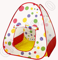 Cheap 1LOT HHA487 Children Kids Play Tents Outdoor Garden Folding Portable Toy Tent Indoor&Outdoor Pop Up Multicolor Independent House