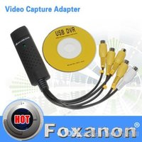Wholesale USB Easycap Channel DVR CCTV Camera Audio Video Adapter Recorder for win7 vista mmm capture card A5 A5