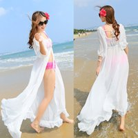 sexy swimwear - Women Sexy Chiffon Long Dress Sarong Beach Bikini Swimwear Cover Up Wrap Robes