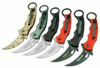 achat en gros de 12pcs freeshipping-meilleure FOX couteau pliant karambit pliant de chasse fixe le camping chasse survivre couteau échantillon 12pcs freeshipping
