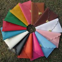 Cheap ruffled Pu leather clutch bag Best flouncy PU wallet purse