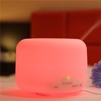 led light diffuser - Mini Aroma Diffuser LED Night Light Humidifier Super Portable Design for Home Office for Sale LM
