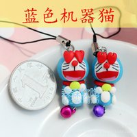 Wholesale New supply handmade blue Viking Fimo polymer clay phone pendant mobile phone pendant