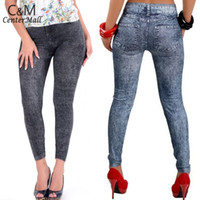 Wholesale 2014 New Sexy Fashion Skinny Pencil Denim pants Womens Leggings Jeans Pants Trousers Women Leggings Colors
