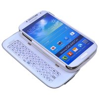 Wholesale Detachable Backlight Wireless Bluetooth Sliding Keyboard Stand Case Hardshell Back Cover For Samsung Galaxy S4 SIV i9500 With Retail Package