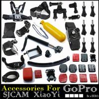 Wholesale For Gopro Accessories Set Helmet Harness Chest Belt Head Mount Strap Go pro Hero Hero4 Sj4000 Xiaomi YI Sjcam Black Edition