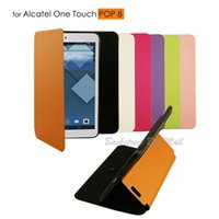 alcatel tablets - High Quality PU Leather Protective Case Skin Cover For Alcatel One Touch Pop P320X POP8 tablet Clear LCD Screen Protector
