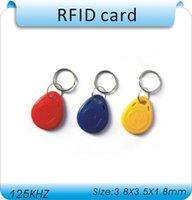 Bigset descuento 100pcs / 125Khz RFID Proximidad Identificación Token Etiquetas Keybos para control de acceso Tiempo de asistencia / 10 código de láser