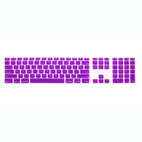 Wholesale High Quality Multi Color Ultra Thin Silicone US Keyboard Skin Cover With A Numeric Keypad For Apple For iMac
